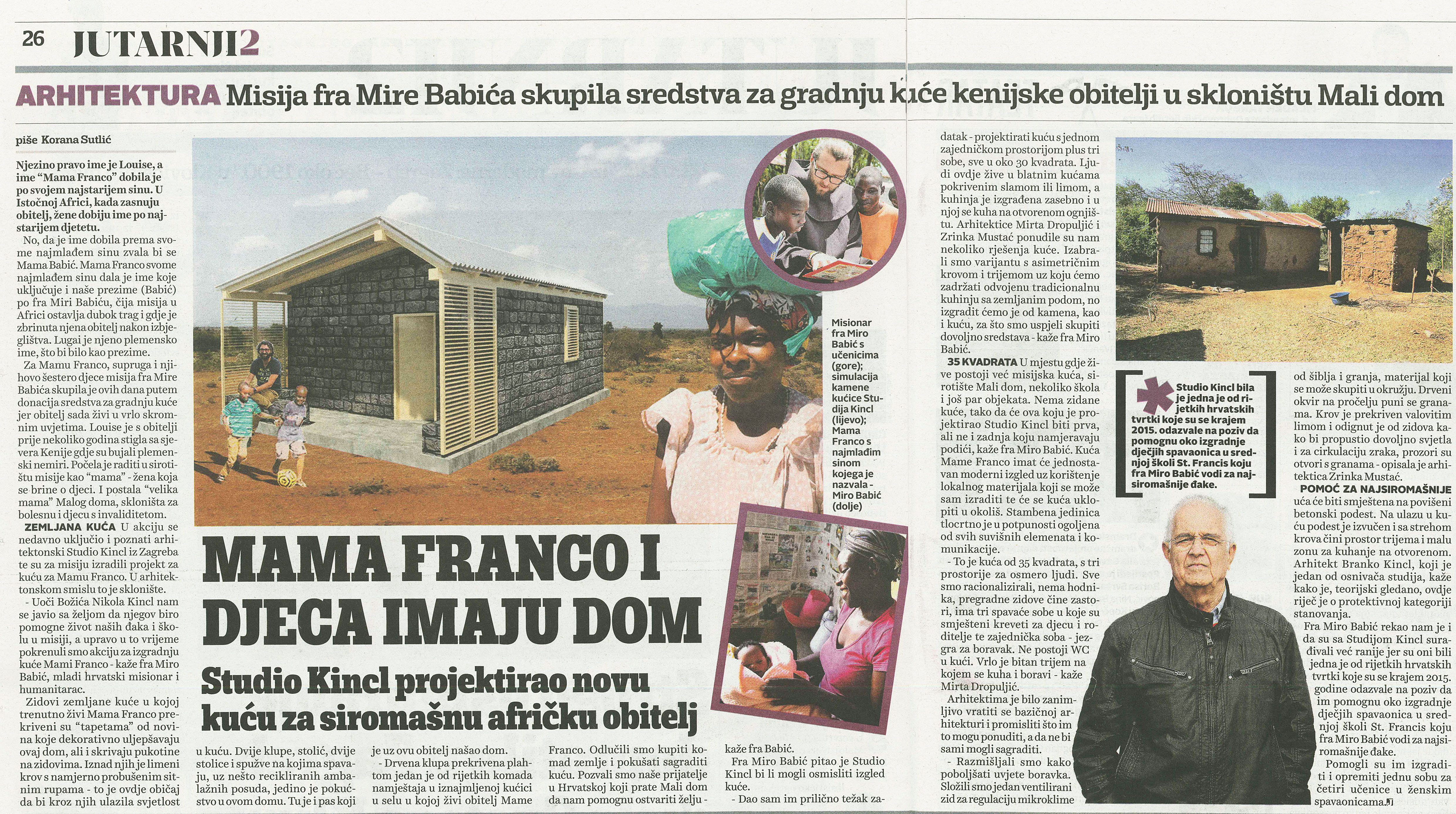 Objavljen članak O Mami Franco U Jutarnjem Listu